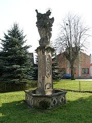 Sloup se sochou Anděla strážce