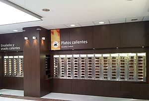 Automat -  Automatic restaurant with automats in University Jaume I of Castellón in Spain