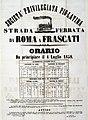 Società privilegiata Pio-latina, orario della linea Roma-Frascati, 1858 - san dl SAN IMG-00001390.jpg