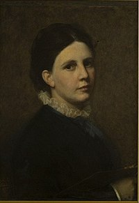 Sofie Amalia Ribbing - Self-portrait in the Uffizi.jpg
