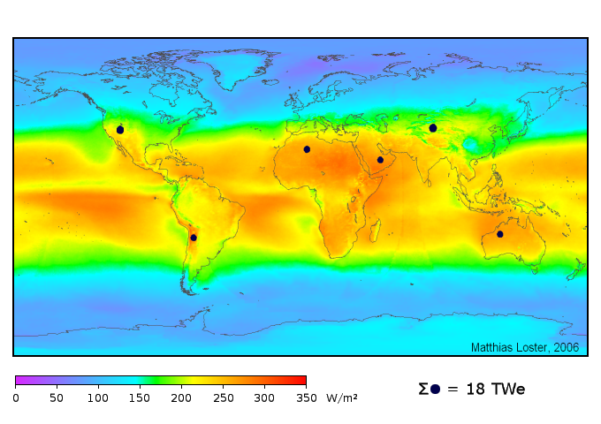 Solar land area