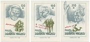"Illegal ""postage stamps"" with Pope John Paul II of Solidarność Walcząca (""Fighting Solidarity"") - underground anticommunistic organization in Poland (est. 1982). Used not for letters, but as shares sold to financially support the organization."