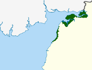 Solway Coast - The Solway Coast AONB, in green.