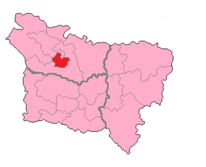 Somme's 2nd constituency - Somme's 2nd Constituency shown within Picardie.