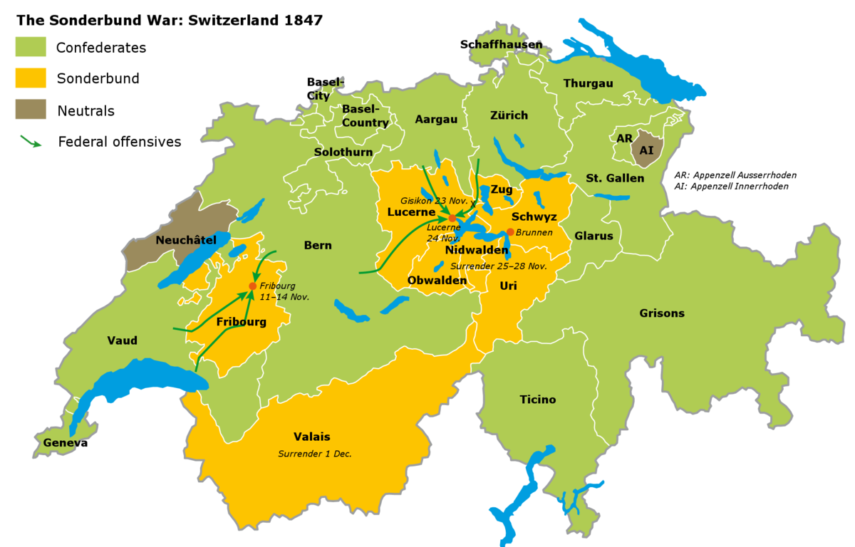 Sonderbund War - Wikipedia