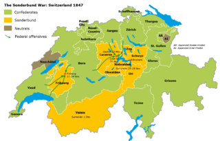 civil war in Switzerland in November 1847