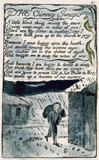 The Chimney Sweeper - Songs of Innocence and of Experience, copy L, 1795 (Yale Center for British Art) object 41 The Chimney Sweeper