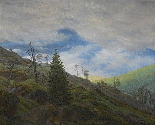 Sonnenblick im Riesengebirge (Sunburst in the Giant Mountains) by Caspar David Friedrich