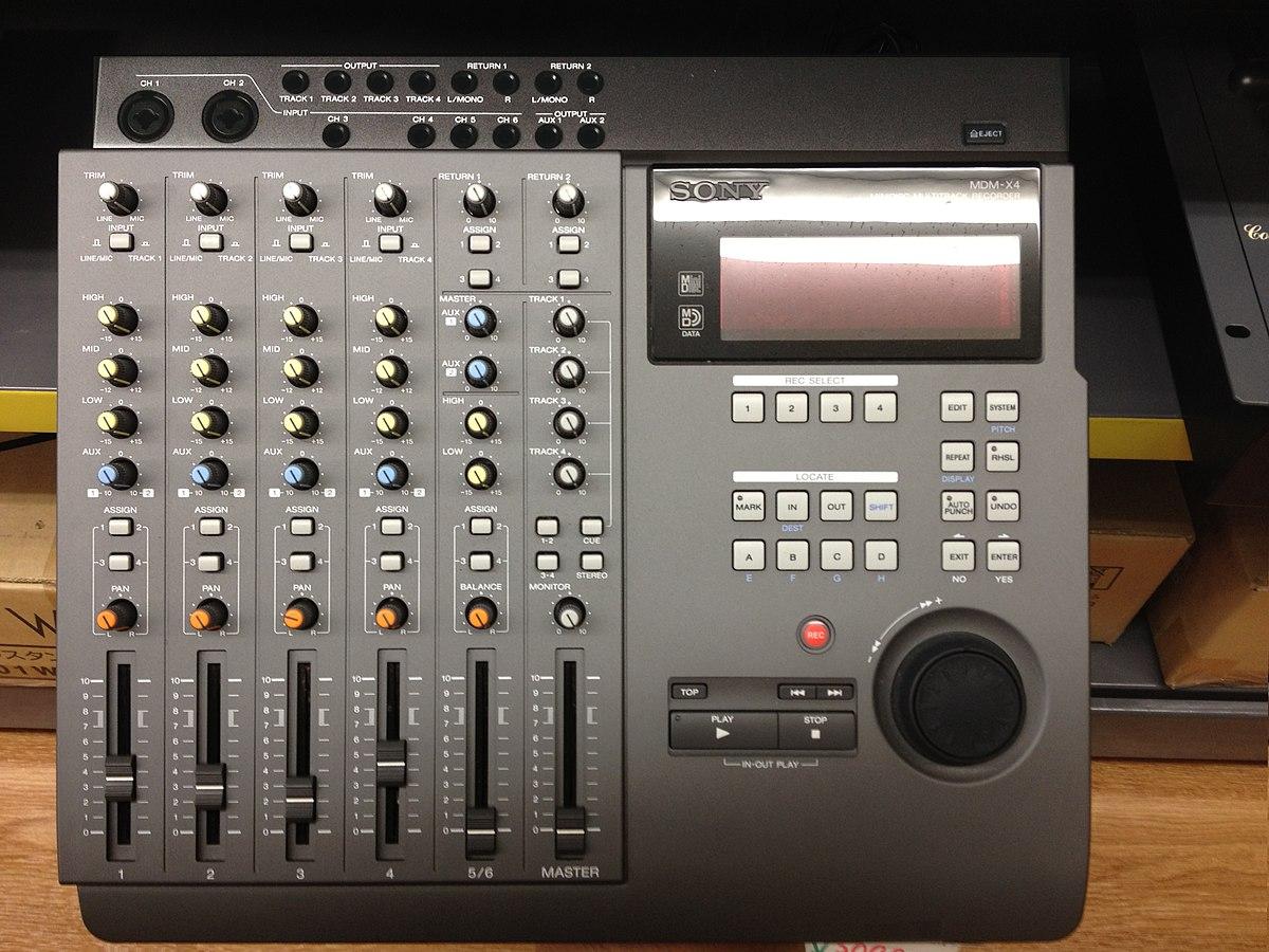 File:Sony MDM-X4 Minidisk Multitrack Recorder jpg