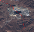 Sotka Gold Mine, Armenia and Azerbaijan boundary, Sentinel-2 satellite image, 2020-11-14.png