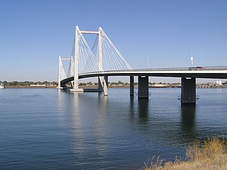 Washington State Route 397 - The Cable Bridge, which carries SR 397 across the Columbia River