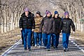 Soyuz MS-08 crew and backup crew at the Walk of Cosmonauts.jpg