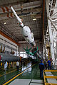 Soyuz TMA-09M rocket in the assembling facility 3.jpg