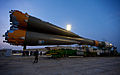 Soyuz TMA-20 spacecraft arrives at the launch pad.jpg