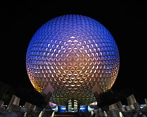 Sandwich panel - Epcot's Spaceship Earth is an example of the use of ACP in architecture. It is a geodesic sphere composed of 11,324 ACP tiles.
