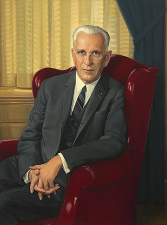 John W. McCormack - Official portrait, oil on canvas by Victor Lallier, 1966
