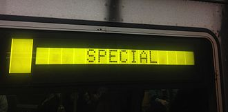 New York City Subway nomenclature - An R46 LCD sign on the IND Sixth Avenue Line