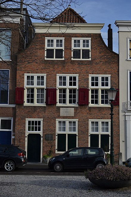 "The ""Spinoza House"" in The Hague, where the philosopher Spinoza lived from 1670 until his death. Spinozahuis Den Haag 2.JPG"