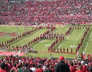 Spirit of Houston - The Spirit of Houston Cougar Marching Band during a pre-game show at Robertson Stadium