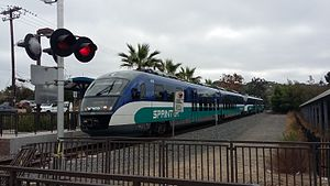 Buena Creek station - Sprinter train at Buena Creek station