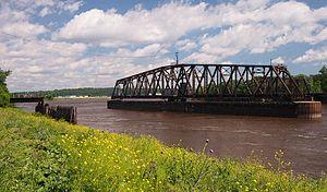 St. Paul Union Pacific Rail Bridge - The St. Paul Union Pacific Rail Bridge in open position
