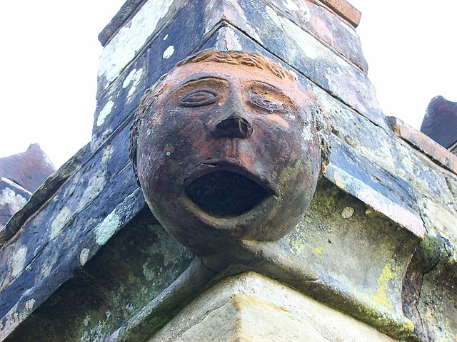 Gargoyle on St Margaret the Queen in Buxted Park, East Sussex