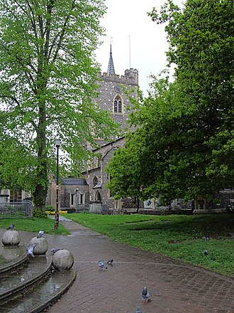 William Capel (sportsman) - Image: St Mary's Church, Watford in Hertfordshire
