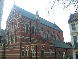 St Michael's Church, Brighton - The eastern and northern parts of the church, built in 1893