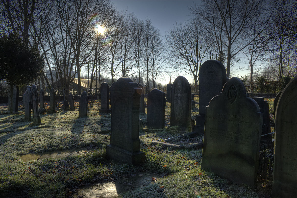 File:St georges church graveyard Carrington Greater Manchester.jpg