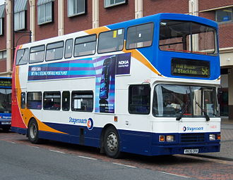 Stagecoach North East - Alexander RL bodied Volvo Olympian in Stockton-on-Tees in May 2009