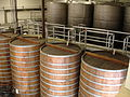 Stainless steel and large wood barrel fermenters.jpg