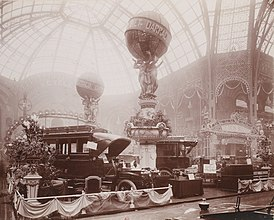 Stand Darracq au salon de l'automobile 1906.jpg
