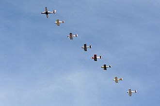 Air racing - Start formation Sport Class 2014 Reno Air Races