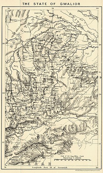 Gwalior State - Gwalior state in 1903