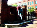 Statue of King Gambrinus, Brewery District, Columbus, Ohio.jpg