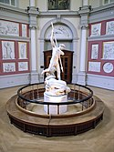 Statue of St Michael conquering Satan, Flaxman Gallery, UCL 486245270.jpg