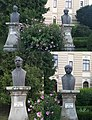 Statues of GR. Cobalcescu and Al. Philippide found next to the rectorate building of Alexandru Ioan Cuza University.jpg