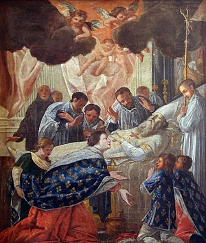 Jean Senelle - Jean Senelle, Saint Balthild at the Deathbed of Saint Eligius, cathédrale de Meaux