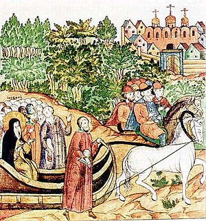 Stephen of Perm - Saint Stephen on his way to Moscow