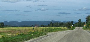 Newport, Quebec - Image: Stoke mountains from Newport panoramio