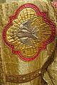 Stole presented to Archbishop Patrick W. Riordan on his silver jubilee, 1908, silk and gold thread, view 2 - Saint Ignatius Church, San Francisco, CA - DSC02624.JPG