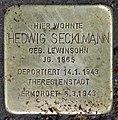 Stolperstein Bamberger Str 16 (Wilmd) Hedwig Secklmann.jpg