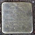 Stolperstein Barbarossastr 8 (Schön) Giesa Szprycer.jpg