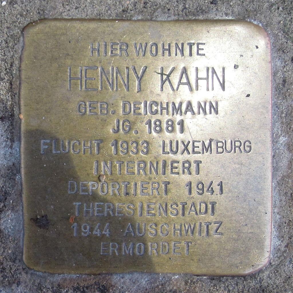 Stolperstein Hoya Lange Straße 51 Henny Kahn