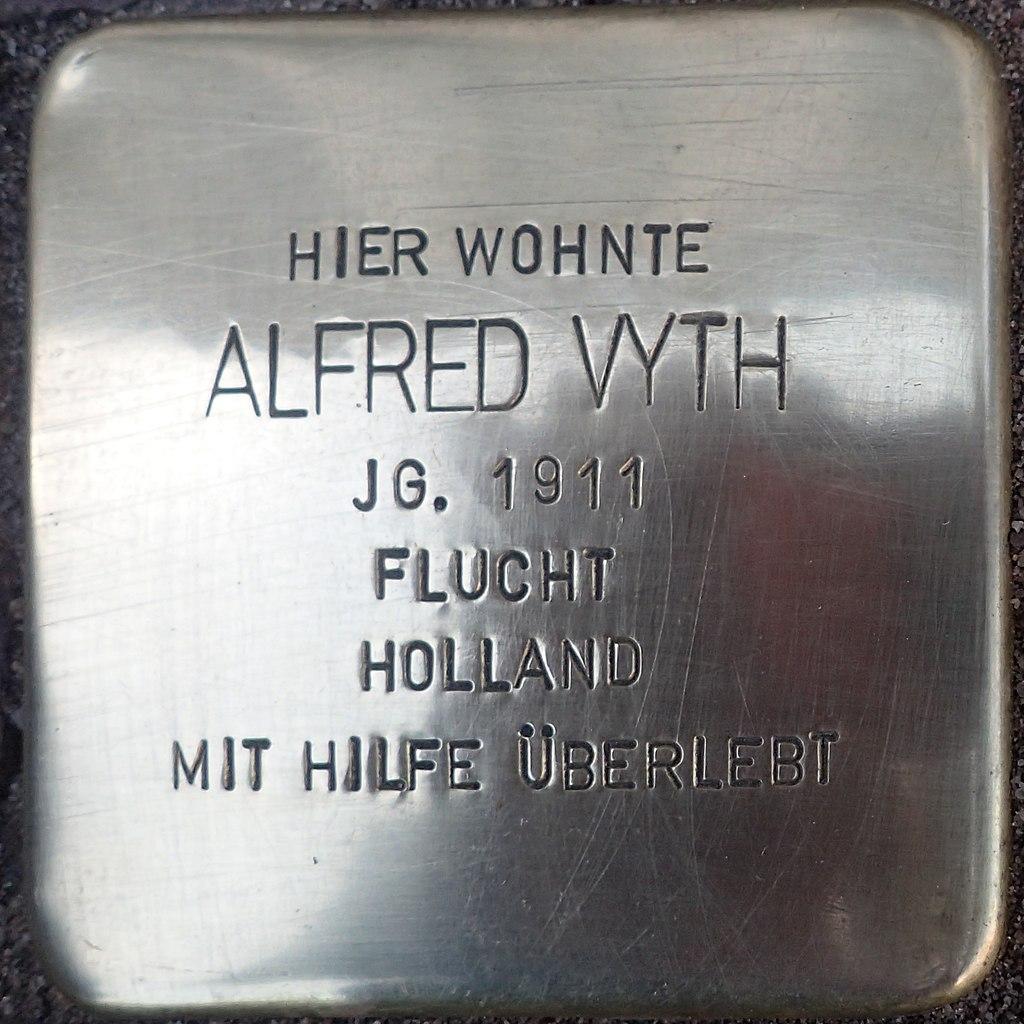 Stolperstein Kalkar Kesselstraße 19 Alfred Vyth
