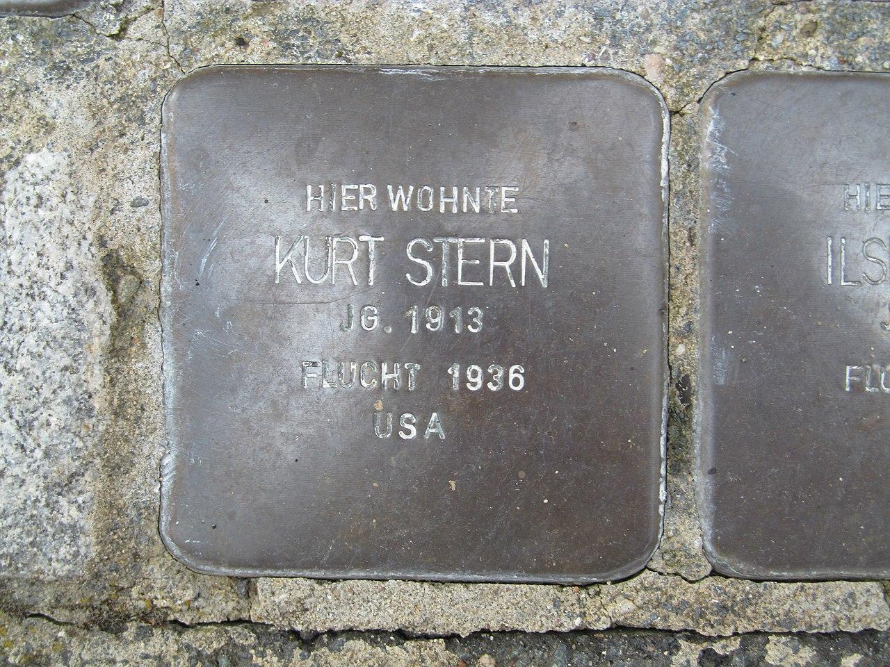Stolperstein Kurt Stern, 1, Lange Straße 2, Oberbrechen, Brechen, Landkreis Limburg-Weilburg.jpg