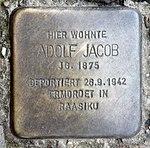 Stolperstein Richard-Sorge-Str 34 (Frhai) Adolf Jacob.jpg