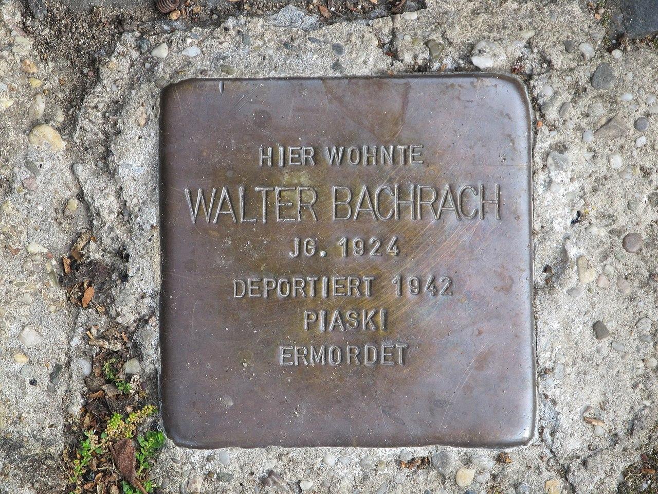 Stolperstein Walter Bachrach, 1, Wilhelm-Leuschner-Straße 47, Darmstadt.jpg