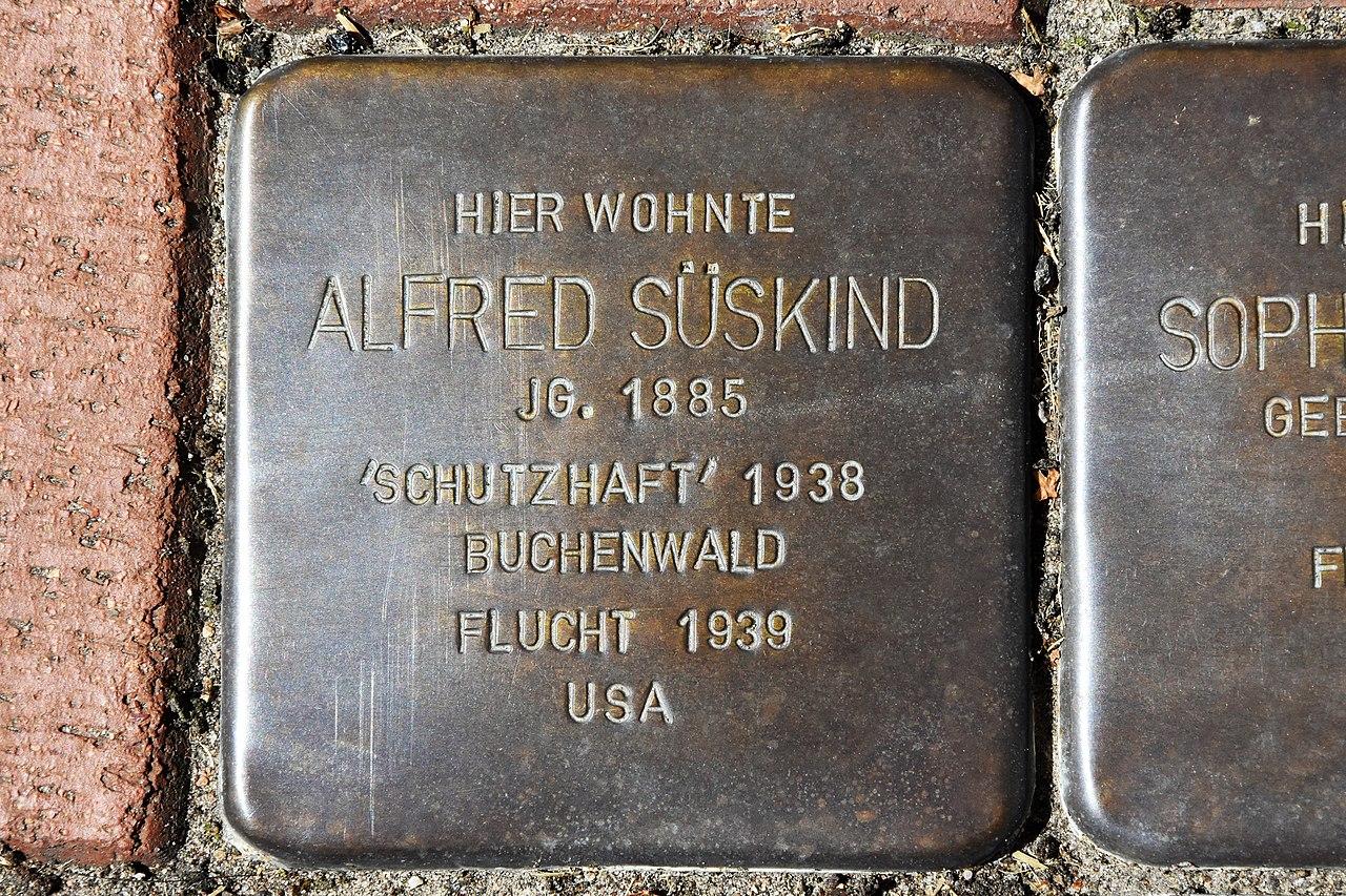 Stolperstein für Alfred Süskind