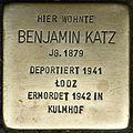 Stumbling block for Benjamin Katz (Weyerstraße 110)